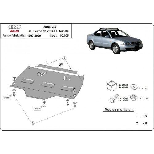 Audi A4, 1995-2000 - Acél AUTOMATA váltóvédő lemez