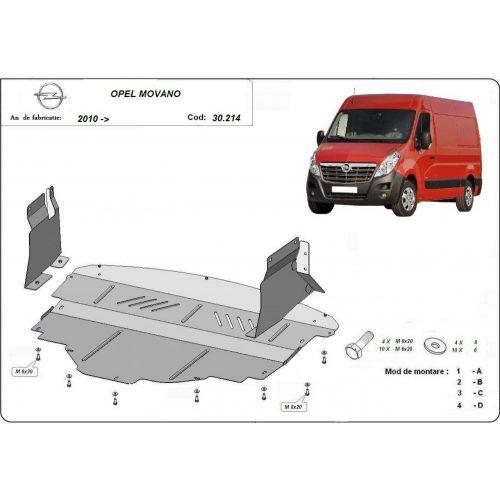 Opel Movano, 2010-2020 - Acél Motorvédő lemez