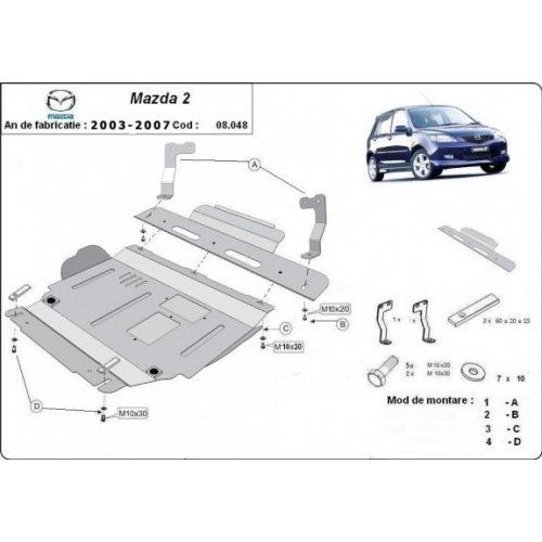 Mazda 2, 2003-2007 - Acél Motorvédő lemez