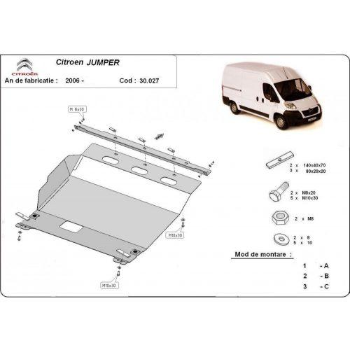 Citroen Jumper, 2006-2020 - Motorvédő lemez
