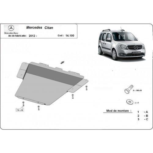 Mercedes Citan, 2012-2020 - Acél Motorvédő lemez