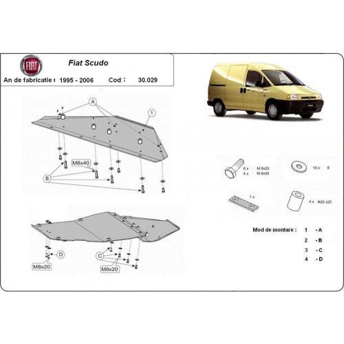 Fiat Scudo, 1995-2006 - Acél Motorvédő lemez