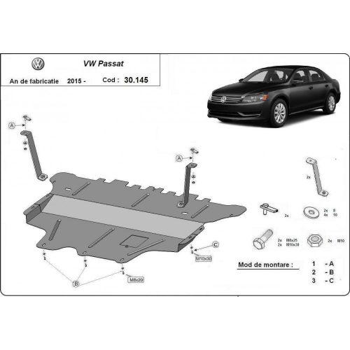 VW Passat, 2014-2020 - Motorvédő lemez