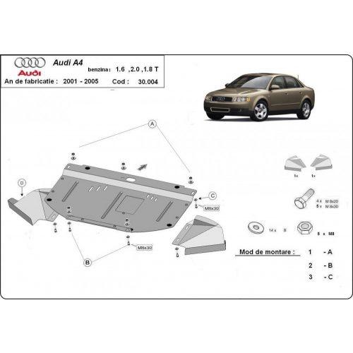 Audi A4, 2000-2005 - Acél Motorvédő lemez - Acél 1.6-2.0, 1.8T