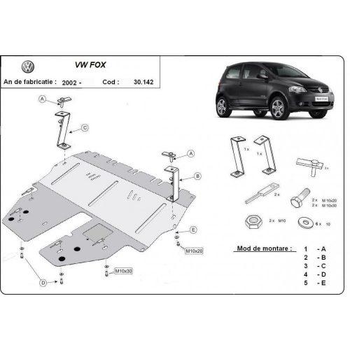VW Fox, 2002-2020 - Motorvédő lemez