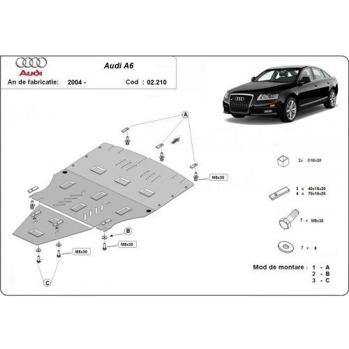 Audi A6, 2004-2011 - Acél Motorvédő lemez