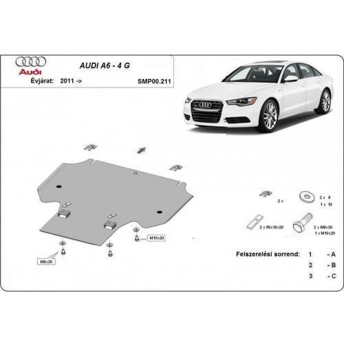 Audi A6-4G, 2011-2018 - Acél Váltóvédő lemez