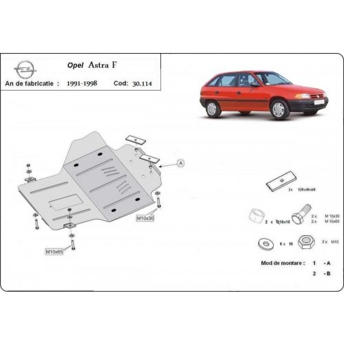 Opel Astra F, 1991-1996 - Motorvédő lemez