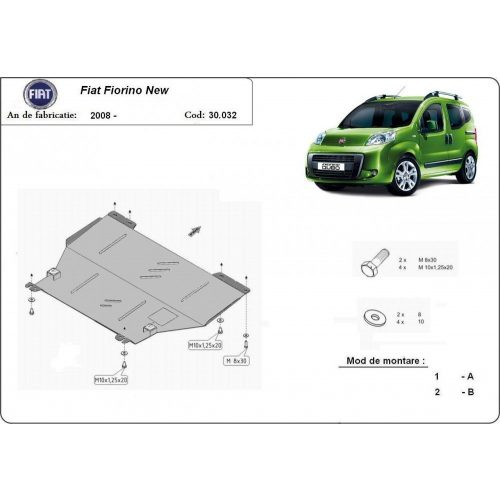 Fiat Fiorino, 2008-2020 - Motorvédő lemez