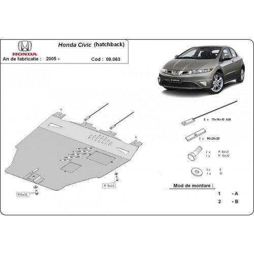 Honda Civic, 2005-2015 - Acél Motorvédő lemez