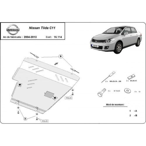 Nissan Tiida, 2007-2011 - Motorvédő lemez
