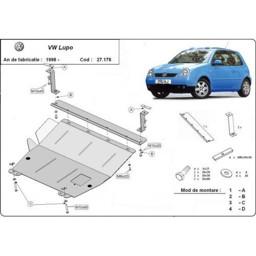 VW Lupo 1999-2005 - Motorvédő lemez