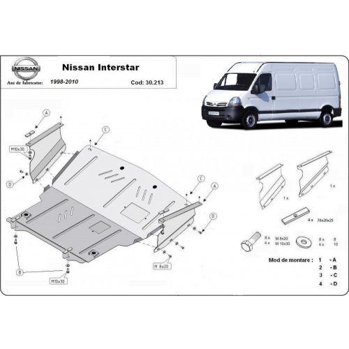 Nissan Interstar, 1998-2010 - Acél Motorvédő lemez