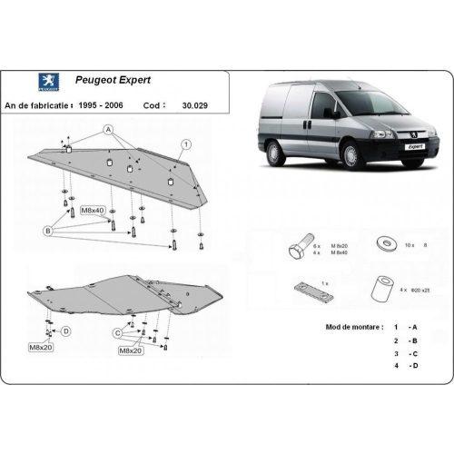 Peugeot Expert, 1995-2006 - Motorvédő lemez