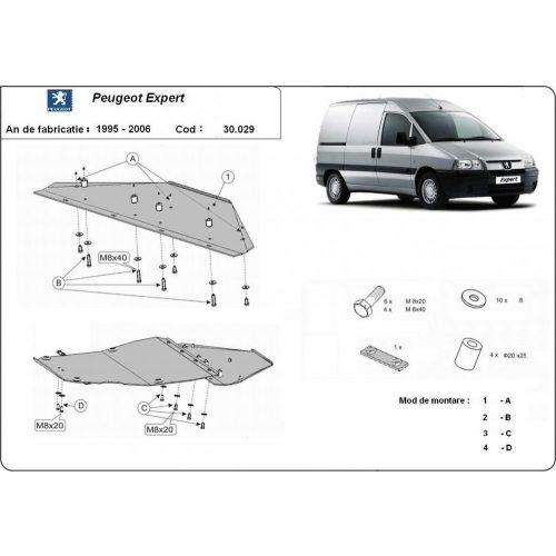 Peugeot Expert, 1995-2006 - Acél Motorvédő lemez