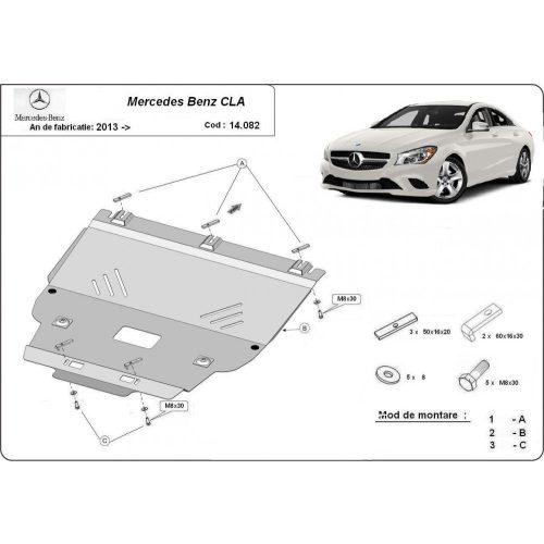 Mercedes CLA X117, 2013-2020 - Acél Motorvédő lemez