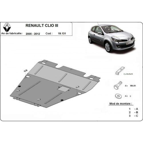 Renault Clio III, 2005-2012 - Acél Motorvédő lemez
