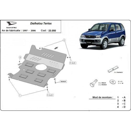 Daihatsu Terios, 1997-2006 - Acél Motorvédő lemez