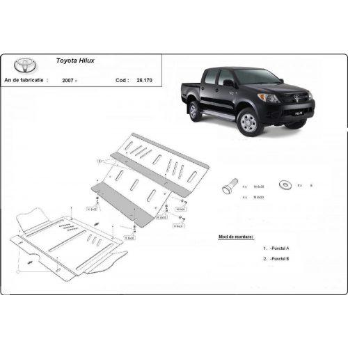 Toyota Hilux II, 2004-2015 - Acél Motorvédő lemez