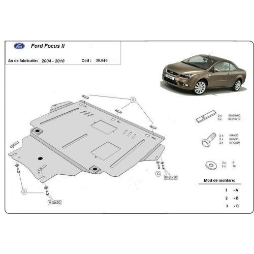 Ford Focus II, 2004-2010 - Acél Motorvédő lemez
