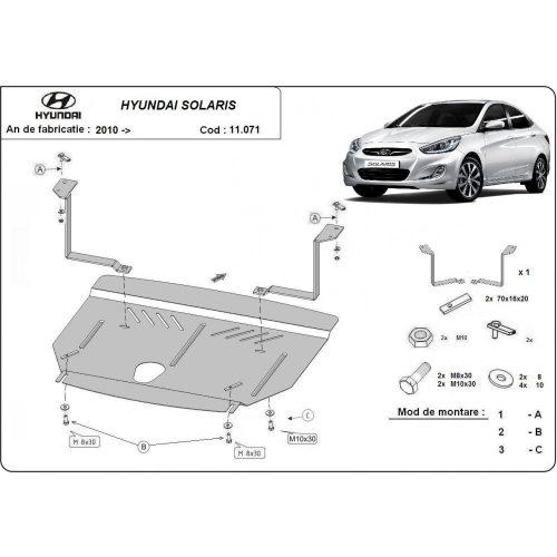 Hyundai Solaris, 2010-2020 - Motorvédő lemez