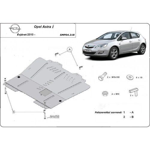 Opel Astra I, 2010-2020 - Acél Motorvédő lemez