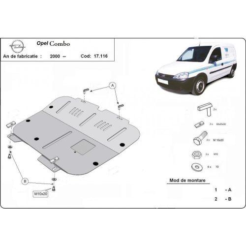 Opel Combo, 2000-2011 - Acél Motorvédő lemez