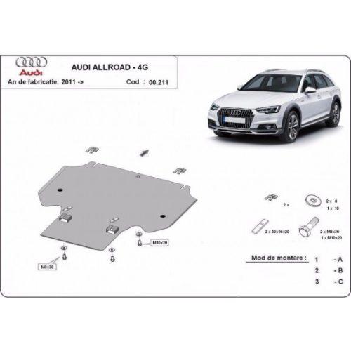 Audi Allroad, 2011-2018 - Acél Váltóvédő lemez
