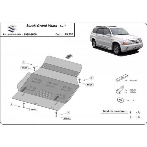 Suzuki Grand Vitara XL7, 1999-2005 - Acél Motorvédő lemez
