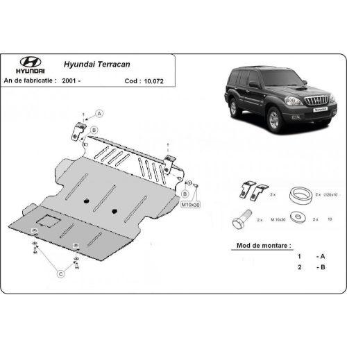 Hyundai Terracan, 2001-2007 - Motorvédő lemez