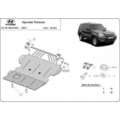 Hyundai Terracan, 2001-2007 - Acél Motorvédő lemez