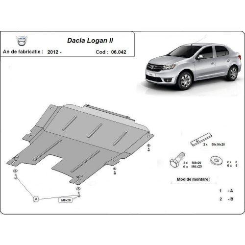 Dacia Logan II, 2012-2020 - Acél Motorvédő lemez