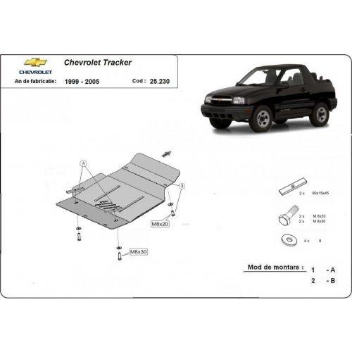 Chevrolet Tracker, 1999-2005 - Motorvédő lemez