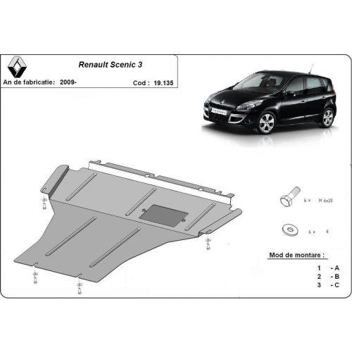 Renault Scenic III, 2009-2020 - Acél Motorvédő lemez