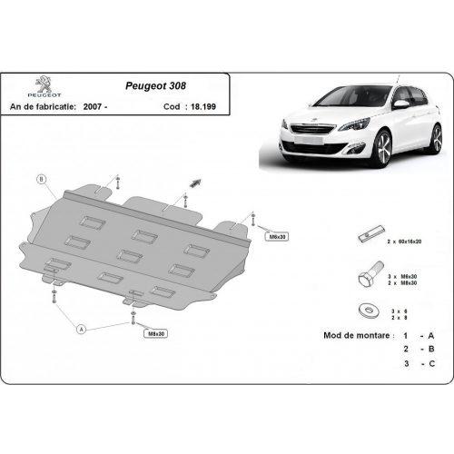 Peugeot 308, 2007-2020 - Motorvédő lemez