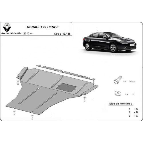 Renault Fluence, 2010-2020 - Acél Motorvédő lemez