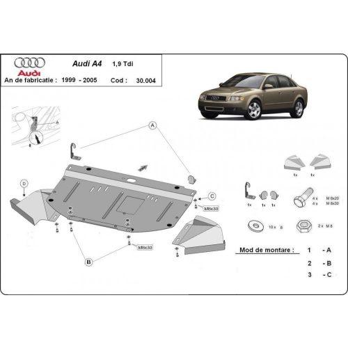 Audi A4, 2000-2005 - Motorvédő lemez - 1.9TDI