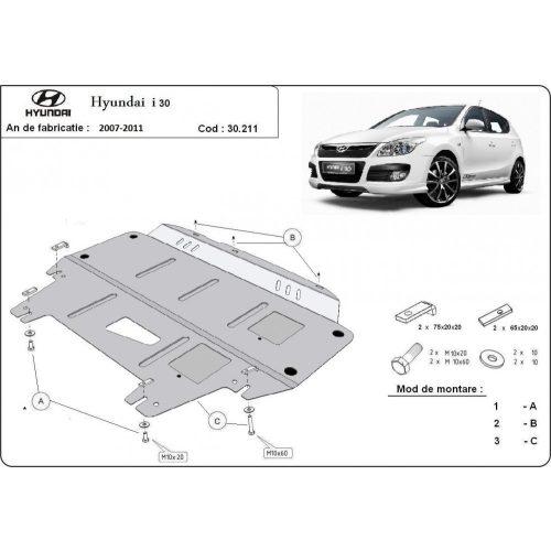 Hyundai i30, 2007-2011 - Acél Motorvédő lemez