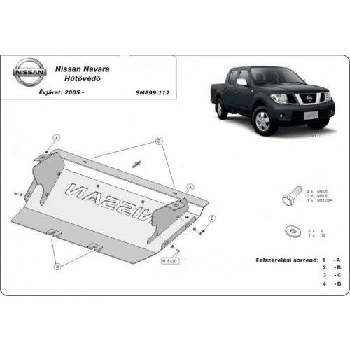 Nissan Navara, 2005-2018 - Acél Hűtővédő lemez