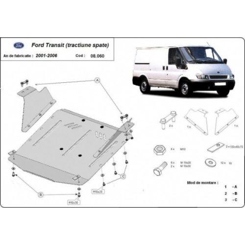 Ford Transit,  (RWD) 2001-2006 - Acél Motorvédő lemez