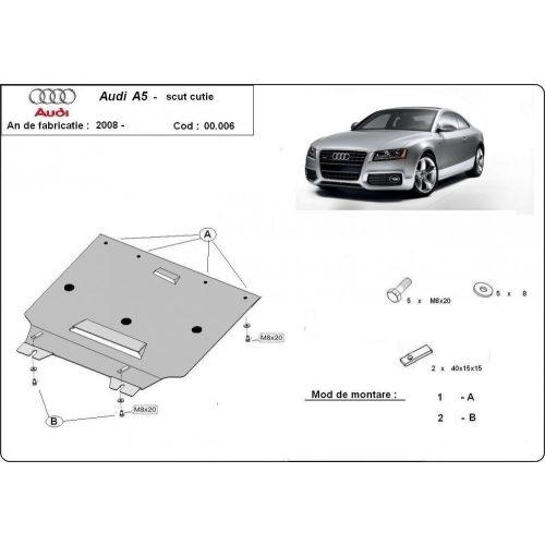 Audi A5 2008-2018 - Acél Váltóvédő lemez