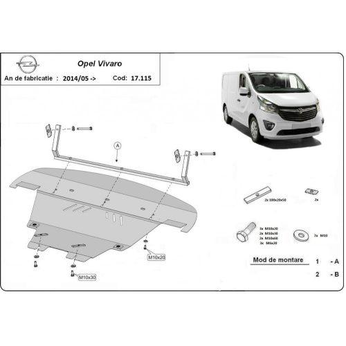 Opel Vivaro, 2014-2020 - Acél Motorvédő lemez