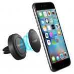 Mobiltelefon tartó - mágneses - klíma rácshoz is rögzíthető - PDA- LA39