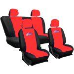 Univerzális autós üléshuzat garnitúra fekete-piros - 8 részes
