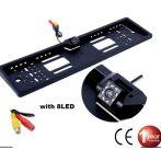 Vízálló tolatókamerás rendszámtábla keret - BG482-3