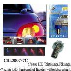 7 színű LED izzó - CSL2007-7C Bay15D - 1db