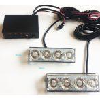 3 funkciós LED-es stroboszkóp sárga - HS-51035-3/390485 - 1db
