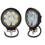 9 LED-es kerek munkalámpa - 1db