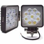 9 LED-es szögletes munkalámpa  - 1db