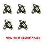 12-24V Canbus 10db-os SMD-SJ-3030-3-31mm - fehér